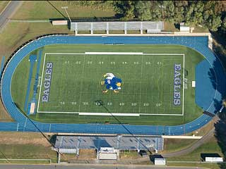 Aerial Photo Football Field