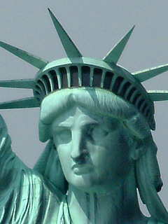 Aerial Photo Statue of Liberty