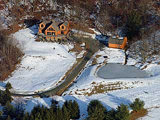Aerial Photo Vacation Home