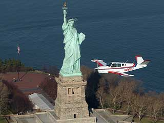 Aerial Photo Statue of Liberty - Aircraft