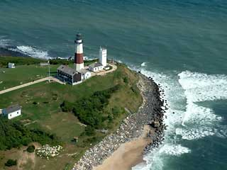 Aerial Photo Montauk Point Light House