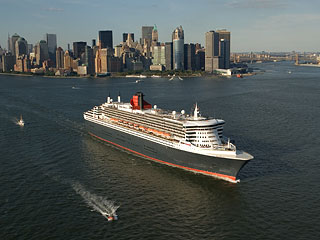 Aerial Photo Queen Mary II Ocean Liner